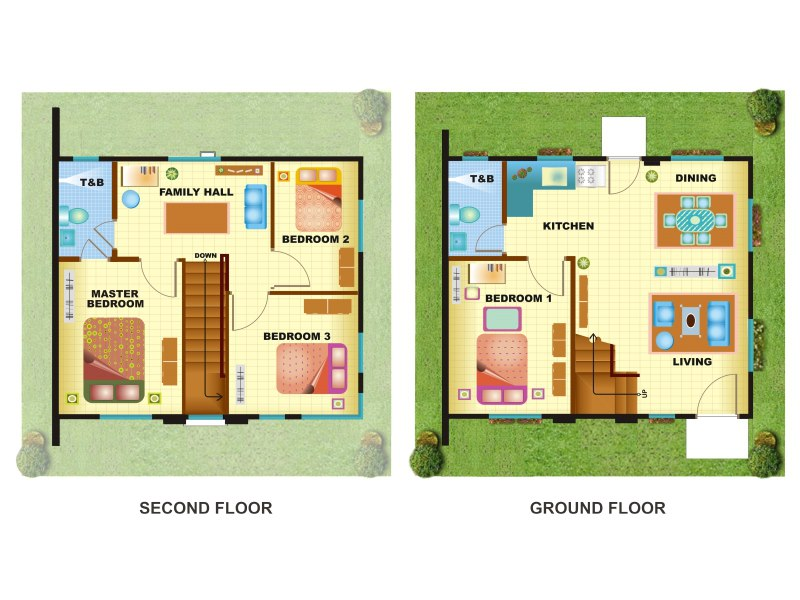 house plans 130 sqm house interior